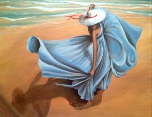 Beach Blues  18″x24″ Canvas Copy – $220
