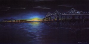 Cooper River Nights 34″x18″ Limited Edition Print – $90
