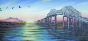 Cooper River Sunset 34″x18″ Limited Edition Print – $120