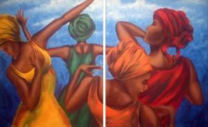 Native Flow 16″x40″ (2 Canvases) Canvas Copy – $400