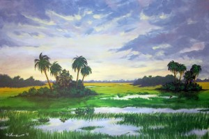 Palmetto Marsh 24″x36″ Acrylic Painting – $1,200