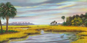 Awendaw Marsh 34″x18″ Artist Proof Print – $150
