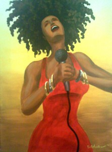 The Songstress 24″x18″ Canvas Copy – $220